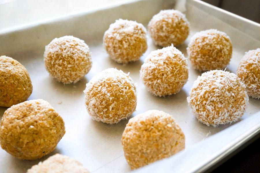 mango coconut balls