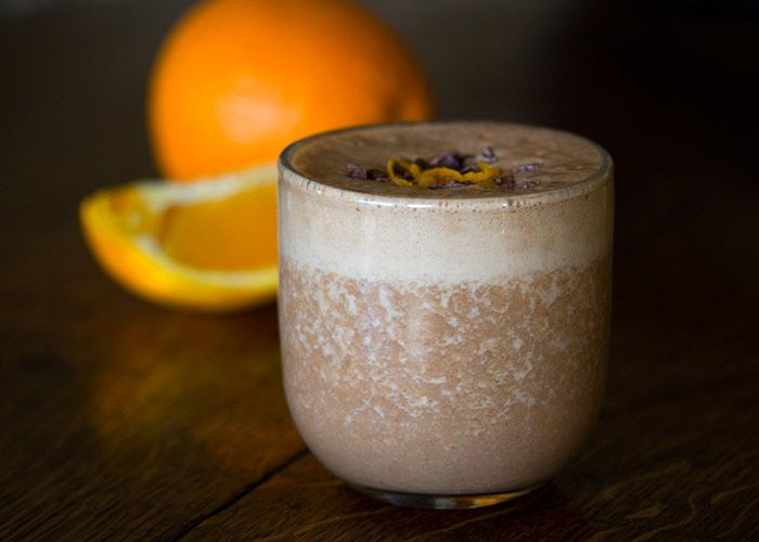 Organic-orange-and-cacao-smoothie