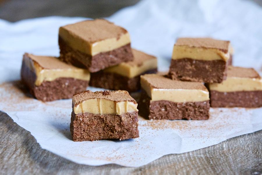 cacao peanut butter slice