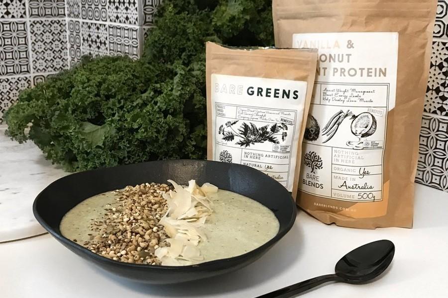 plant protein smoothie bowl