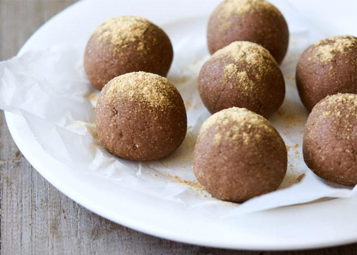 mesquite cacao protein balls