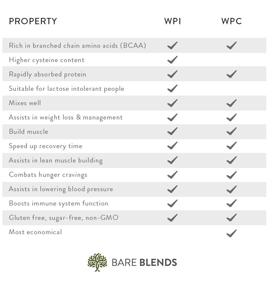 wpi vs wpc protein